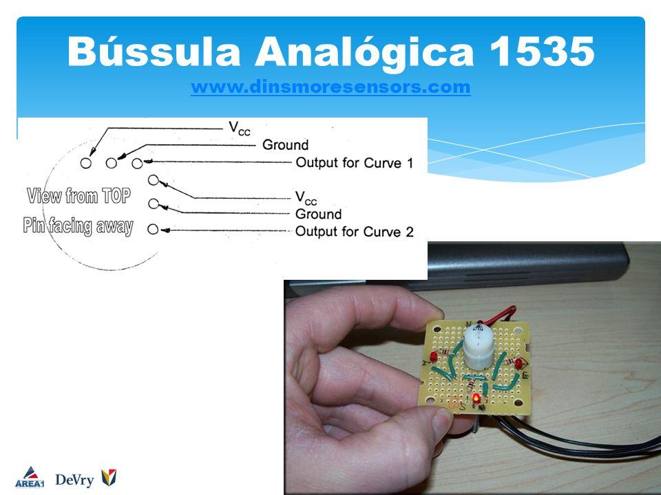 Bússula Analógica 1535 www.dinsmoresensors.com www.dinsmoresensors.com