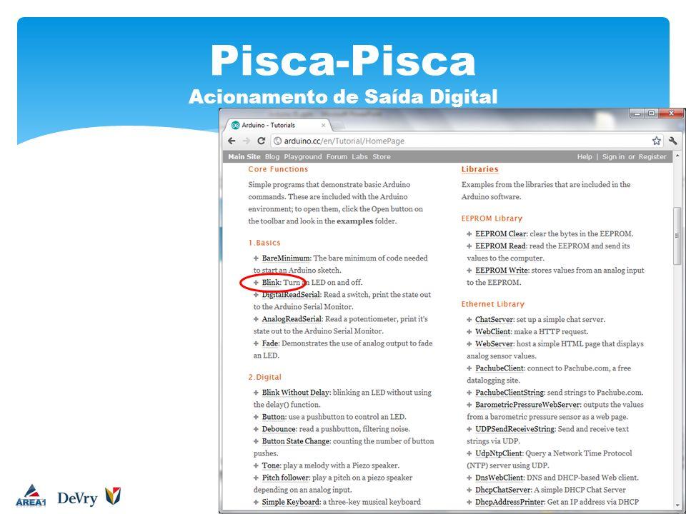 Pisca-Pisca Acionamento de Saída Digital