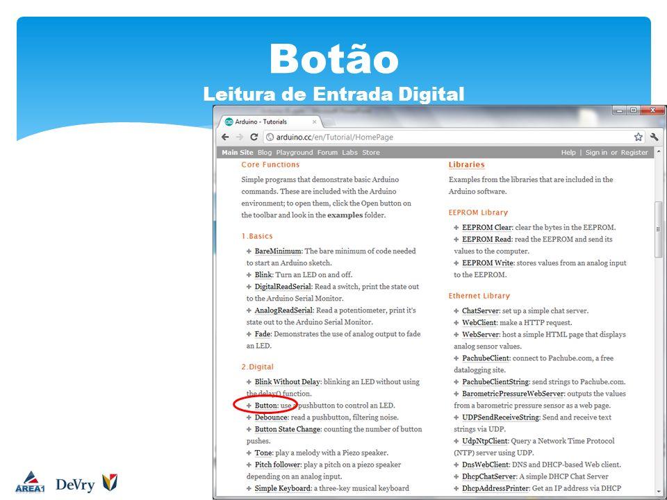Botão Leitura de Entrada Digital