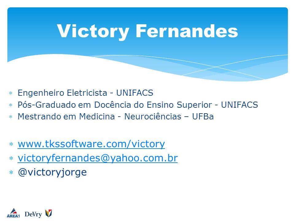 Engenheiro Eletricista - UNIFACS Pós-Graduado em Docência do Ensino Superior - UNIFACS Mestrando em Medicina - Neurociências – UFBa www.tkssoftware.co