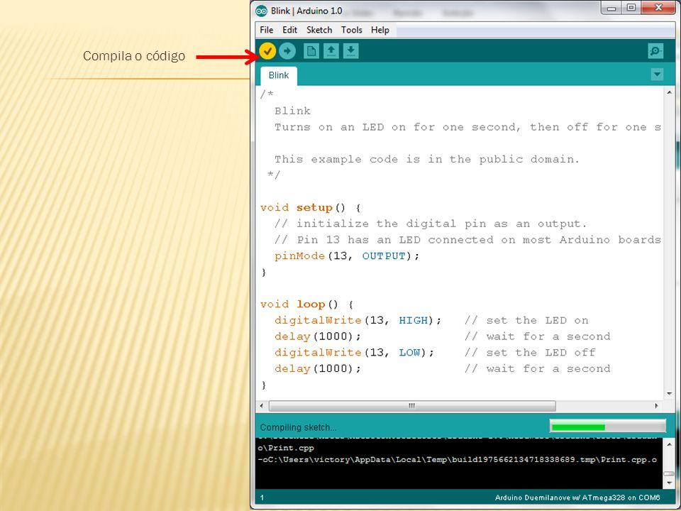 Compila o código