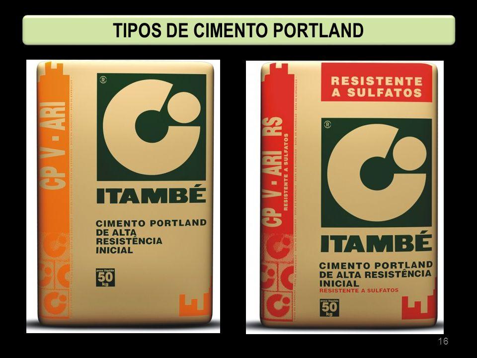 16 TIPOS DE CIMENTO PORTLAND