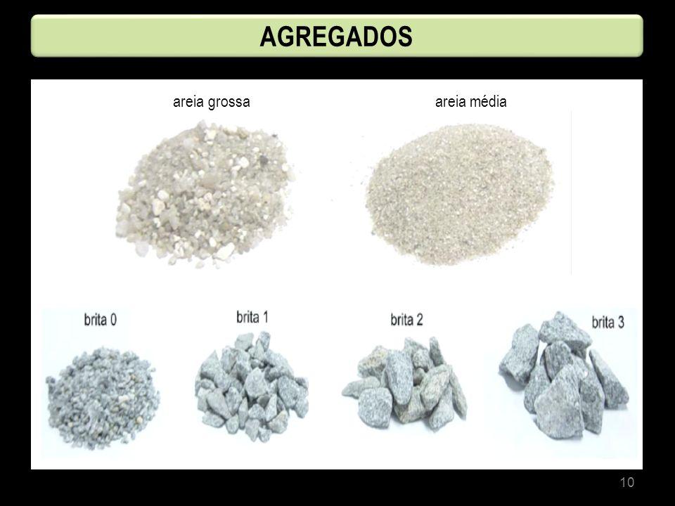 10 AGREGADOS areia grossa areia média