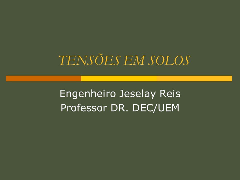 TENSÕES EM SOLOS Engenheiro Jeselay Reis Professor DR. DEC/UEM