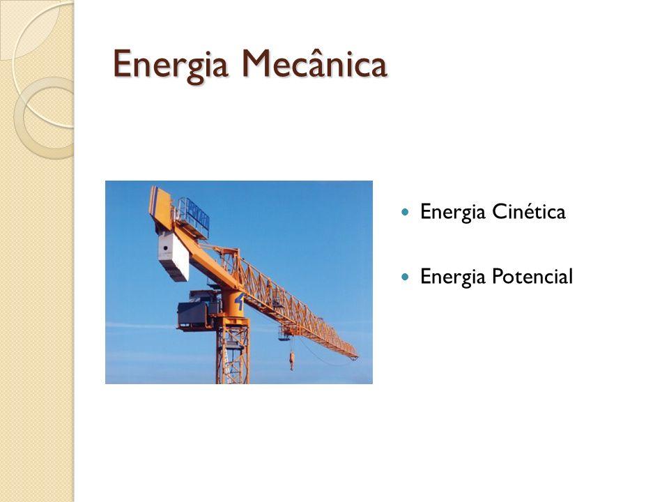 Energia Mecânica Energia Cinética Energia Potencial