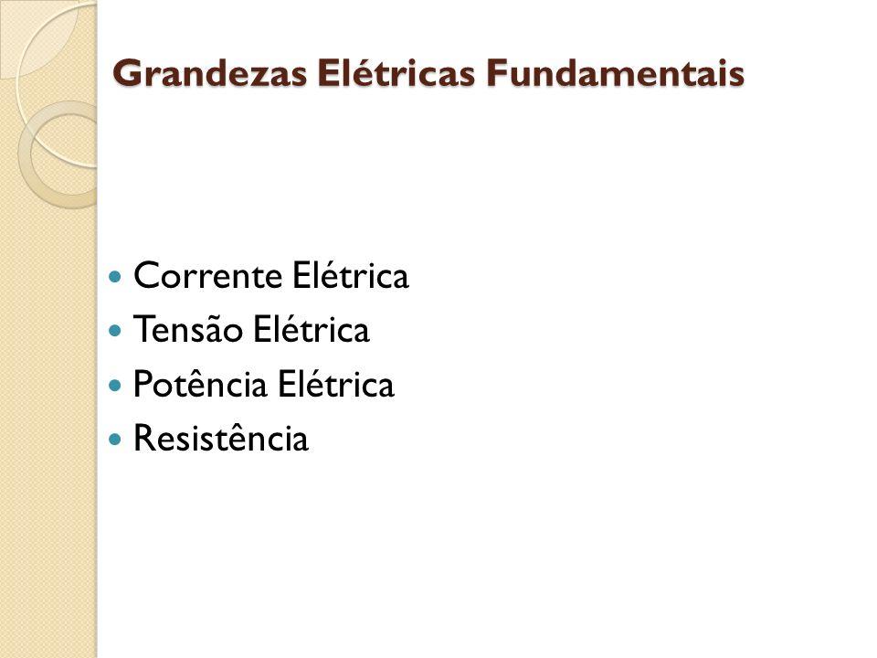 Grandezas Elétricas Fundamentais Corrente Elétrica Tensão Elétrica Potência Elétrica Resistência