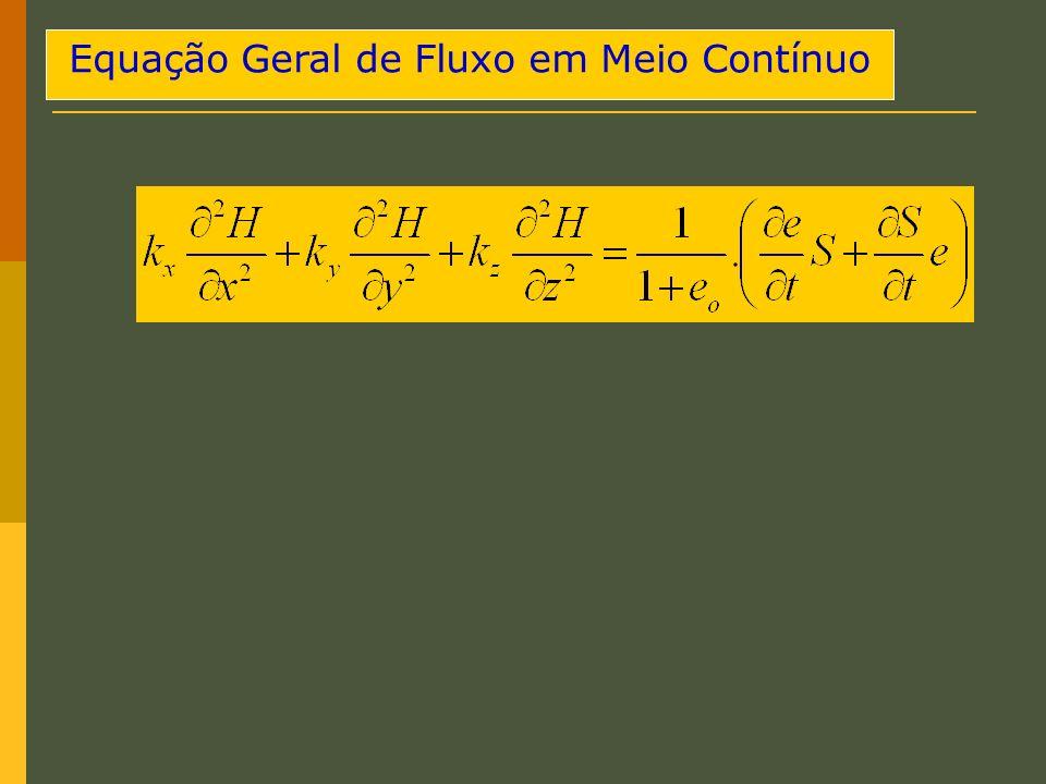 Equação Geral de Fluxo em Meio Contínuo