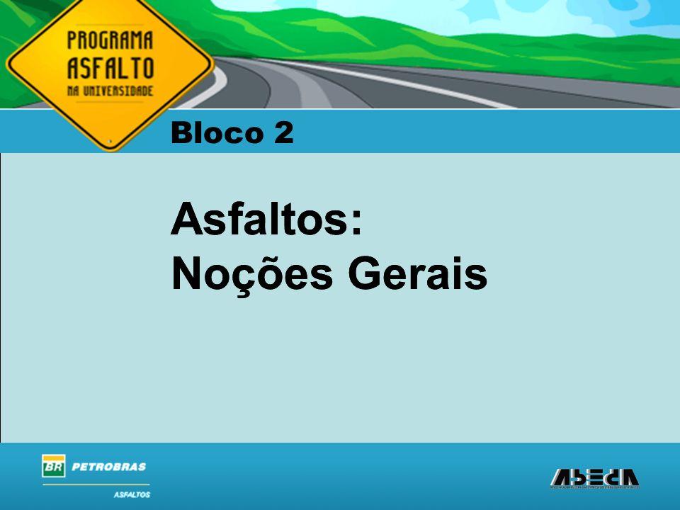 ASFALTOS Associação Brasileira das Empresas Distribuidoras de Asfaltos Asfaltos: Noções Gerais Bloco 2 Asfaltos: Noções Gerais