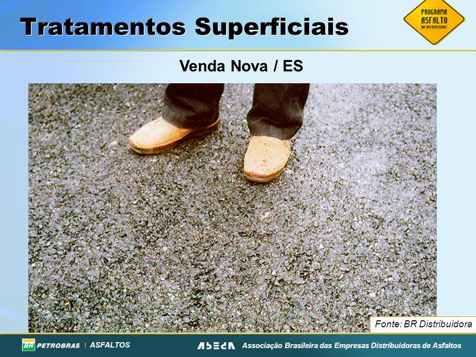 ASFALTOS Associação Brasileira das Empresas Distribuidoras de Asfaltos Tratamentos Superficiais Venda Nova / ES Fonte: BR Distribuidora