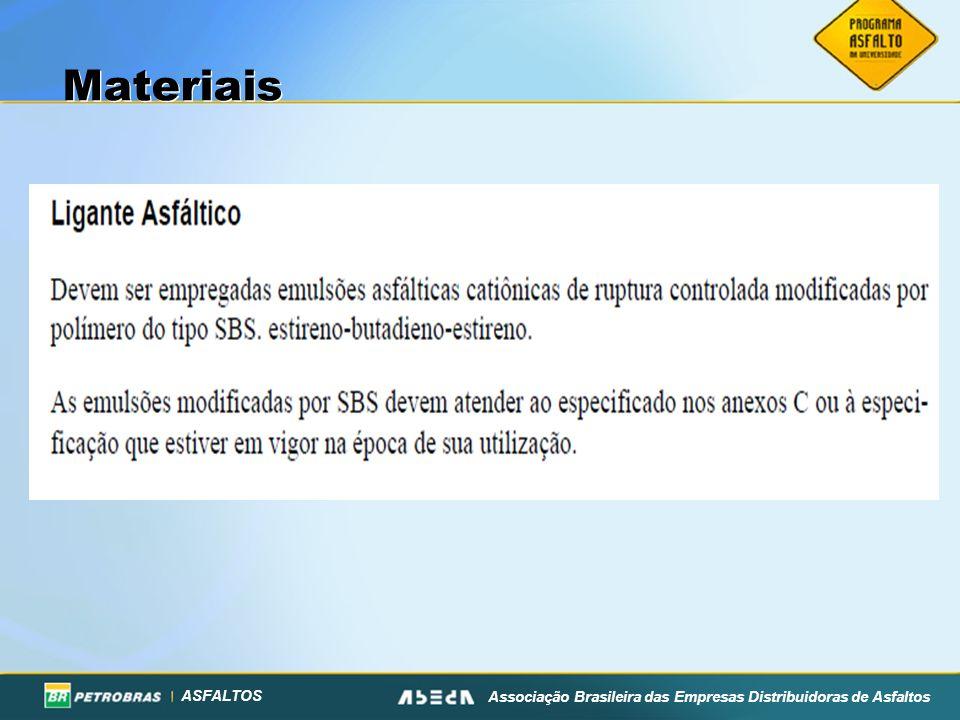 ASFALTOS Associação Brasileira das Empresas Distribuidoras de Asfaltos Materiais