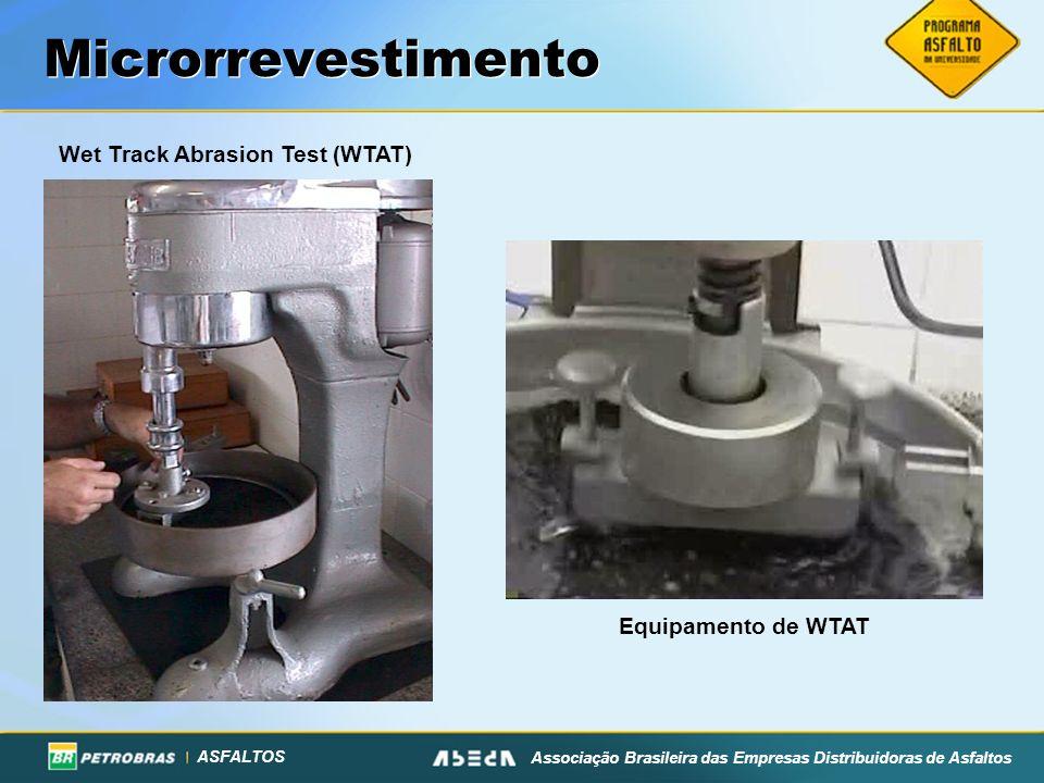 ASFALTOS Associação Brasileira das Empresas Distribuidoras de Asfaltos Microrrevestimento Wet Track Abrasion Test (WTAT) Equipamento de WTAT