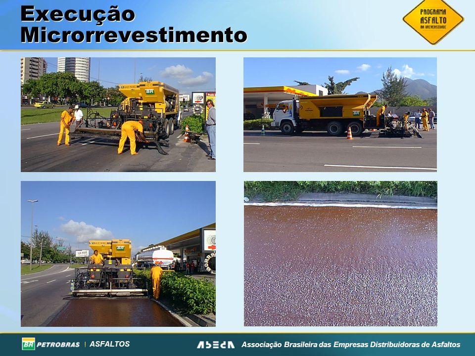 ASFALTOS Associação Brasileira das Empresas Distribuidoras de Asfaltos Execução Microrrevestimento
