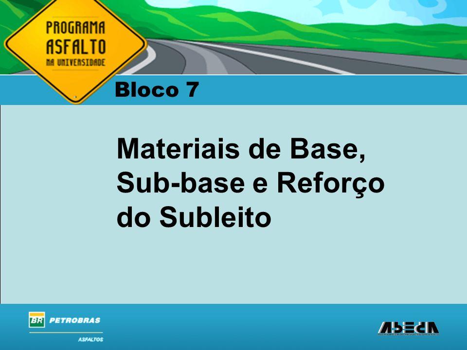 ASFALTOS Associação Brasileira das Empresas Distribuidoras de Asfaltos Bloco 7 Materiais de Base, Sub-base e Reforço do Subleito