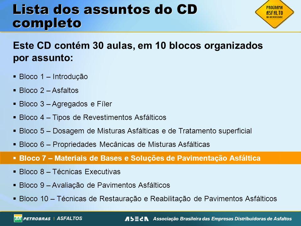 ASFALTOS Associação Brasileira das Empresas Distribuidoras de Asfaltos Materiais: Propriedades Mecânicas 2.