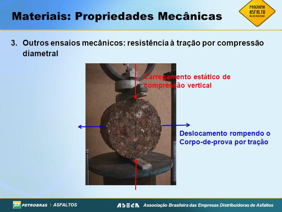 ASFALTOS Associação Brasileira das Empresas Distribuidoras de Asfaltos Materiais: Propriedades Mecânicas 3.Outros ensaios mecânicos: resistência à tra