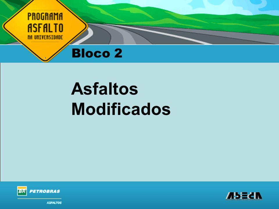 ASFALTOS Associação Brasileira das Empresas Distribuidoras de Asfaltos Morfologia do EVA Maior teor de acetato, maior caráter amorfo e se aproxima de elastômero.