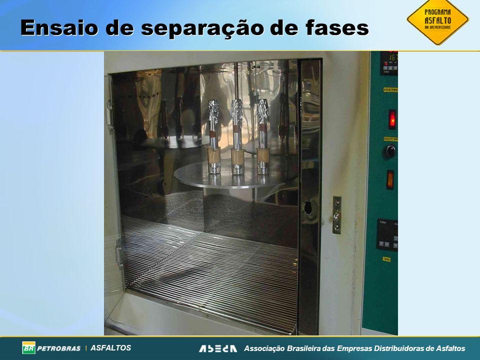 ASFALTOS Associação Brasileira das Empresas Distribuidoras de Asfaltos Ensaio de separação de fases