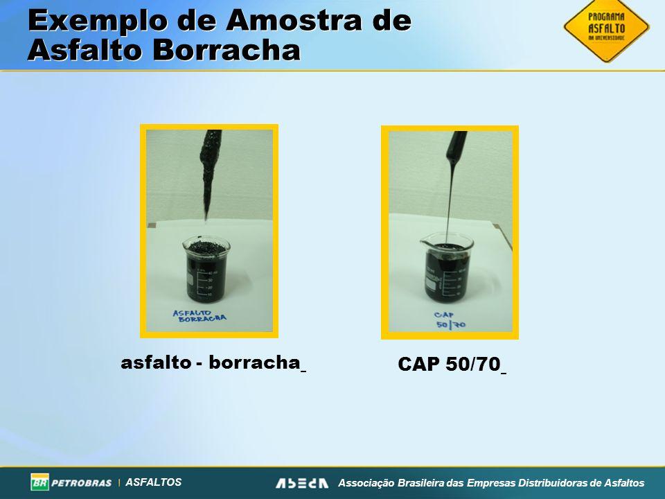 ASFALTOS Associação Brasileira das Empresas Distribuidoras de Asfaltos Exemplo de Amostra de Asfalto Borracha asfalto - borracha CAP 50/70