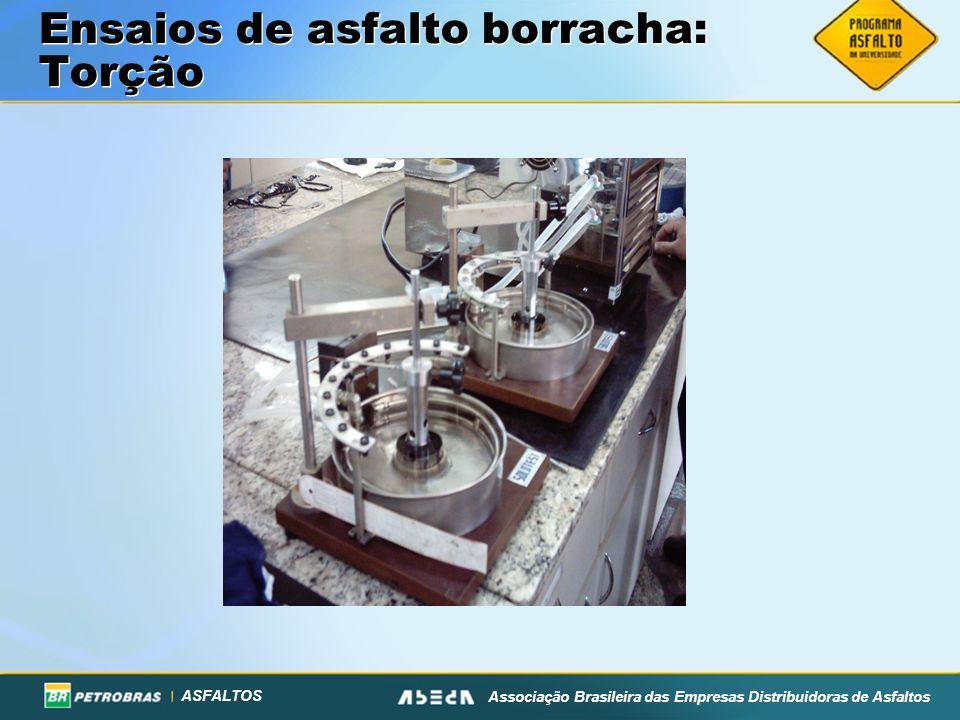ASFALTOS Associação Brasileira das Empresas Distribuidoras de Asfaltos Ensaios de asfalto borracha: Torção