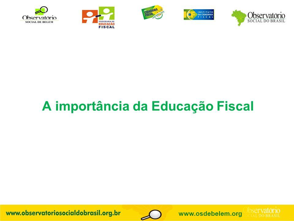 A importância da Educação Fiscal www.osdebelem.org