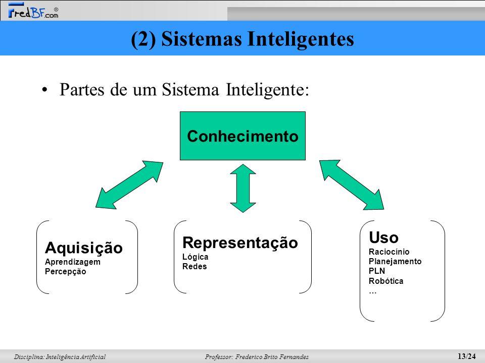 Professor: Frederico Brito Fernandes 12/24 Disciplina: Inteligência Artificial Características –Heurísticas ao invés de algoritmos pré-determinados –A