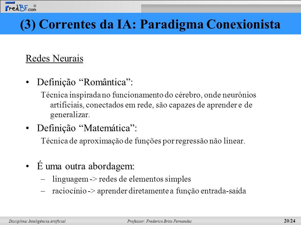 Professor: Frederico Brito Fernandes 19/24 Disciplina: Inteligência Artificial A) x,y,z Americano(x) Arma(y) Nação(z) Hostil(z) Vende(x,z,y) Criminoso