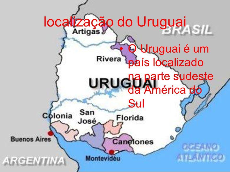 localização do Uruguai O Uruguai é um país localizado na parte sudeste da América do Sul