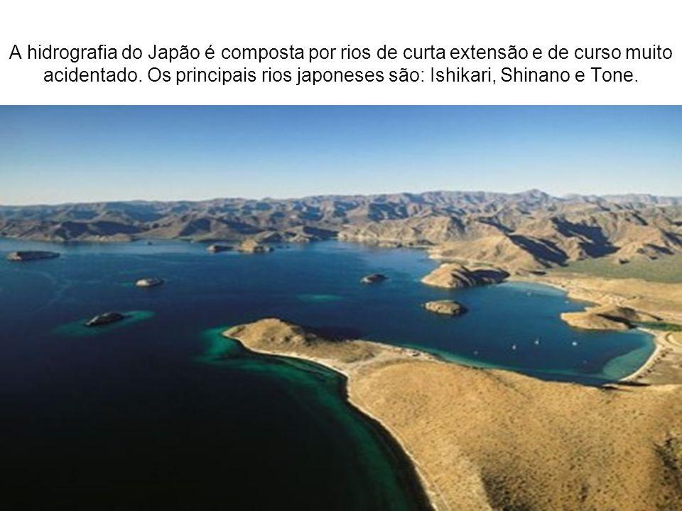 A hidrografia do Japão é composta por rios de curta extensão e de curso muito acidentado. Os principais rios japoneses são: Ishikari, Shinano e Tone.