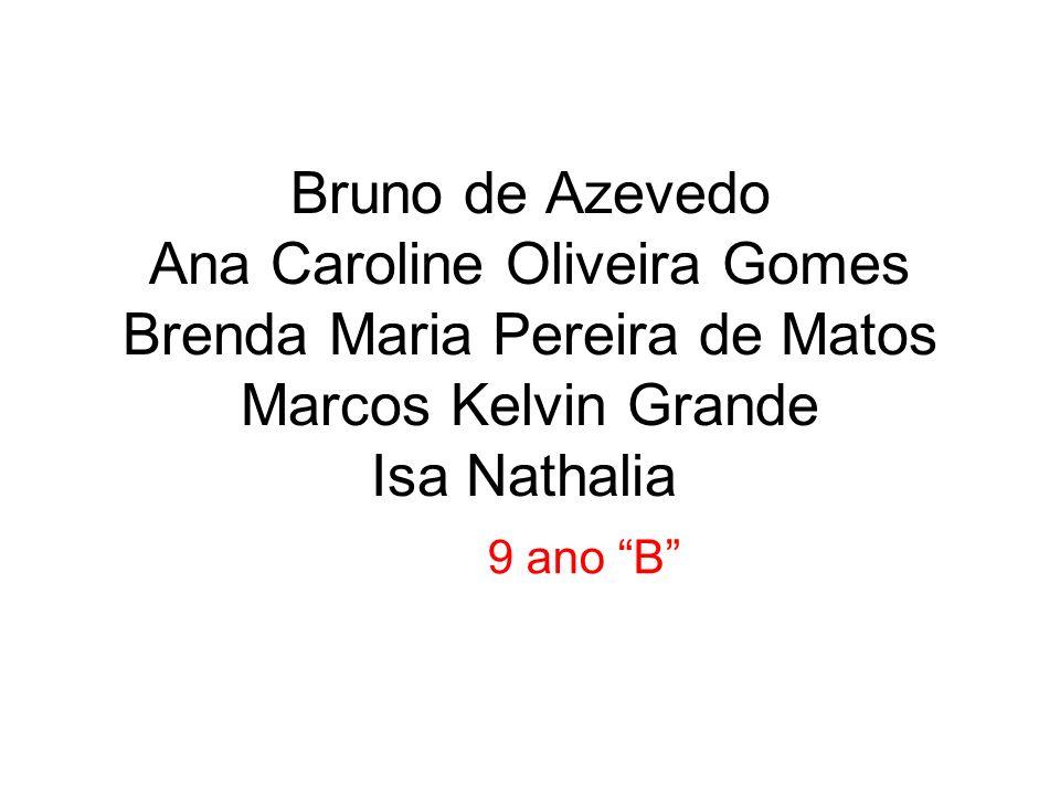 Bruno de Azevedo Ana Caroline Oliveira Gomes Brenda Maria Pereira de Matos Marcos Kelvin Grande Isa Nathalia 9 ano B