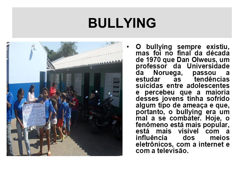 BULLYING O bullying sempre existiu, mas foi no final da década de 1970 que Dan Olweus, um professor da Universidade da Noruega, passou a estudar as te