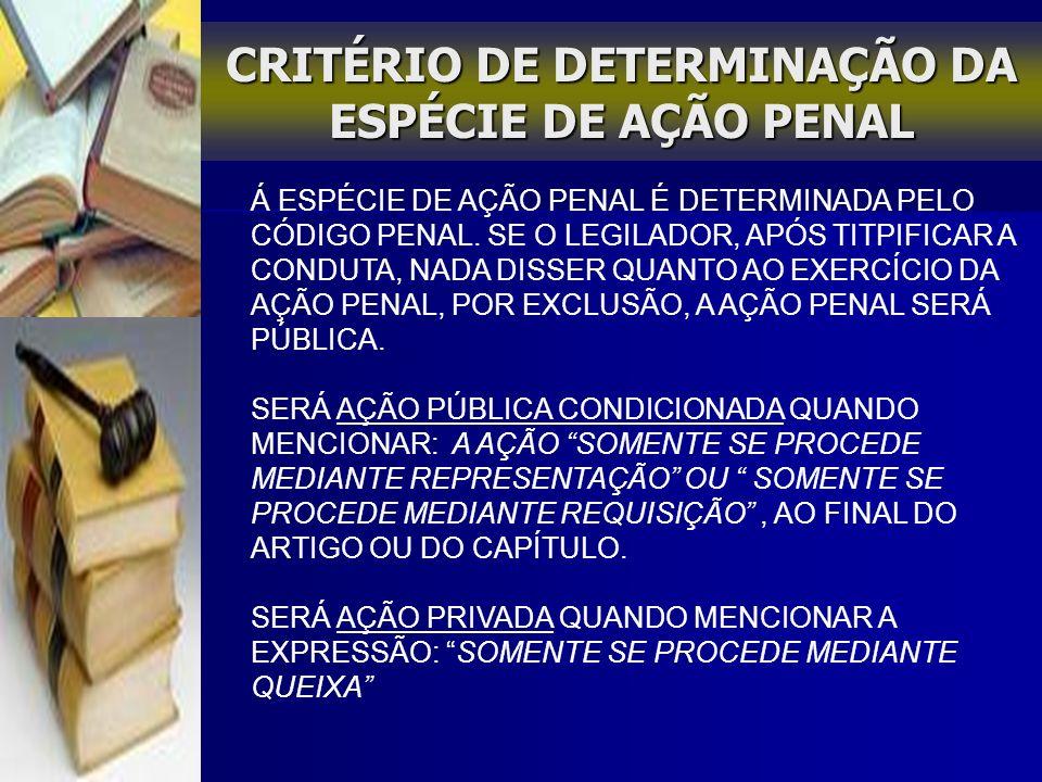 AÇÃO PENAL PÚBLICA INCONDICIONADA O MINISTÉRIO PÚBLICO DETÉM A PRIVATIVIDADE DA SUA PROMOÇÃO.