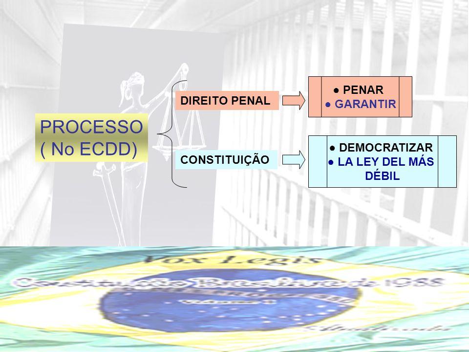 PROCESSO ( No ECDD) DIREITO PENAL CONSTITUIÇÃO PENAR GARANTIR DEMOCRATIZAR LA LEY DEL MÁS DÉBIL