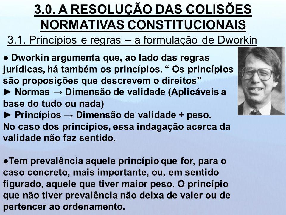 Dworkin argumenta que, ao lado das regras jurídicas, há também os princípios. Os princípios são proposições que descrevem o direitos Normas Dimensão d