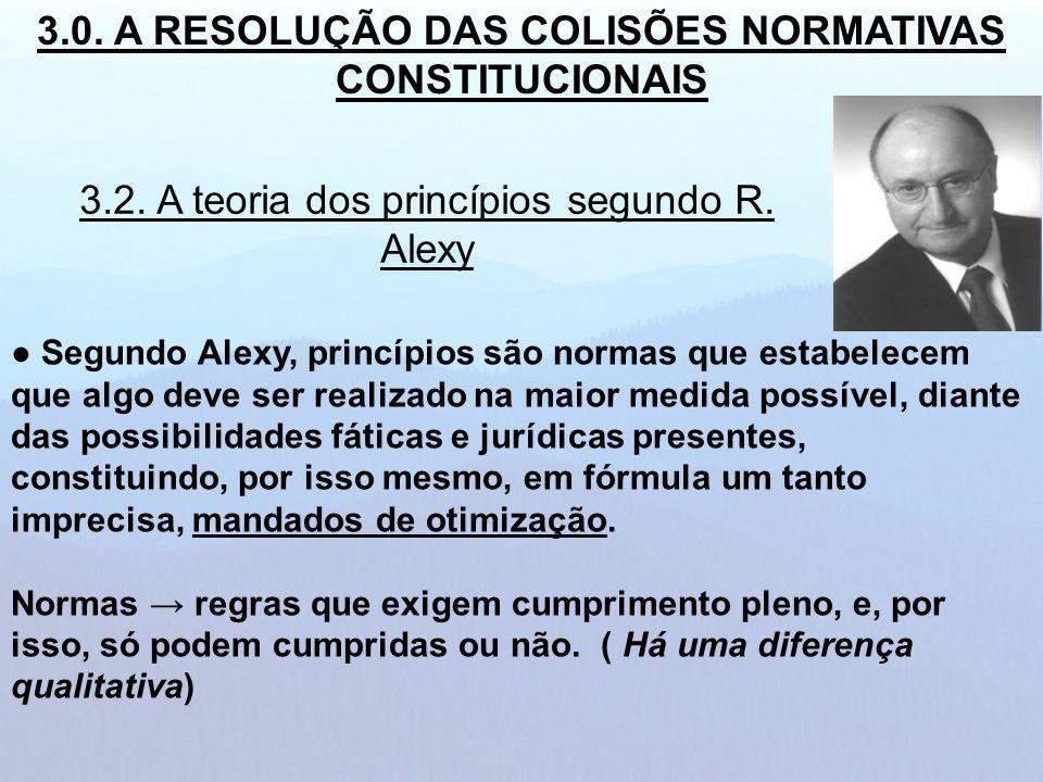 Segundo Alexy, princípios são normas que estabelecem que algo deve ser realizado na maior medida possível, diante das possibilidades fáticas e jurídic