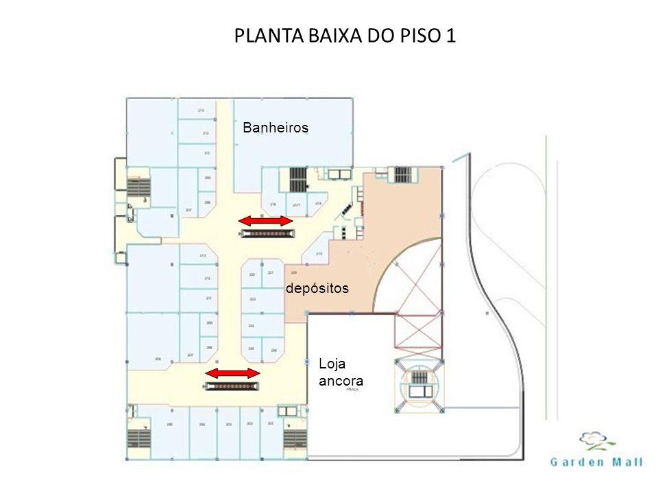 PLANTA BAIXA DO PISO 1 depósitos Banheiros Loja ancora