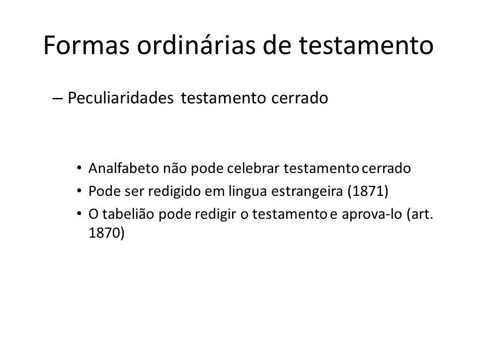Formas ordinárias de testamento – Testamento particular (art.