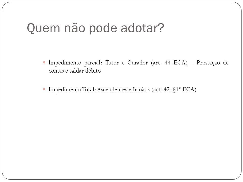 Modalidades Adoção Conjunta/Bilateral Divorciados.