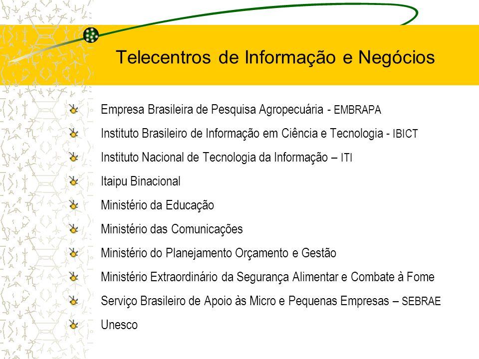 Empresa Brasileira de Pesquisa Agropecuária - EMBRAPA Instituto Brasileiro de Informação em Ciência e Tecnologia - IBICT Instituto Nacional de Tecnolo
