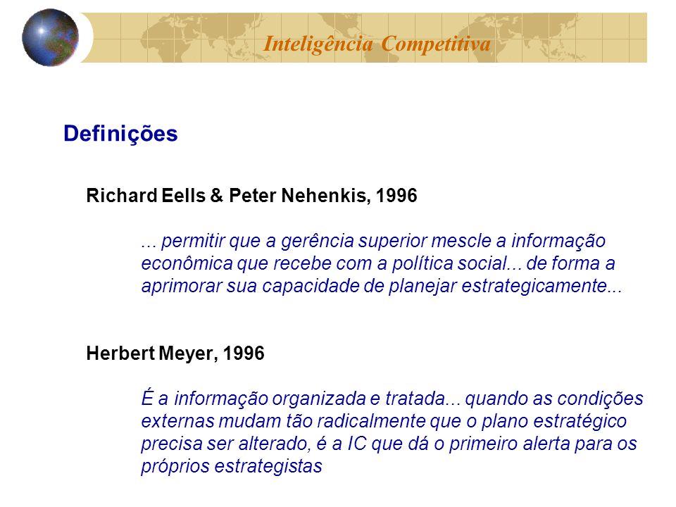 Richard Eells & Peter Nehenkis, 1996... permitir que a gerência superior mescle a informação econômica que recebe com a política social... de forma a