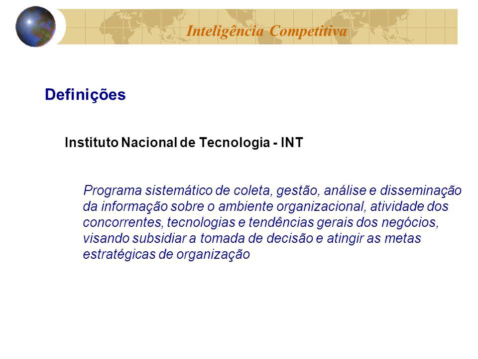Instituto Nacional de Tecnologia - INT Programa sistemático de coleta, gestão, análise e disseminação da informação sobre o ambiente organizacional, a