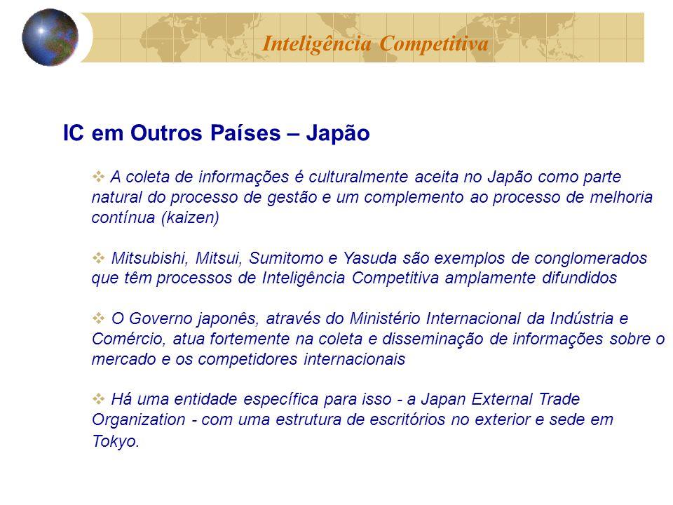 A coleta de informações é culturalmente aceita no Japão como parte natural do processo de gestão e um complemento ao processo de melhoria contínua (ka