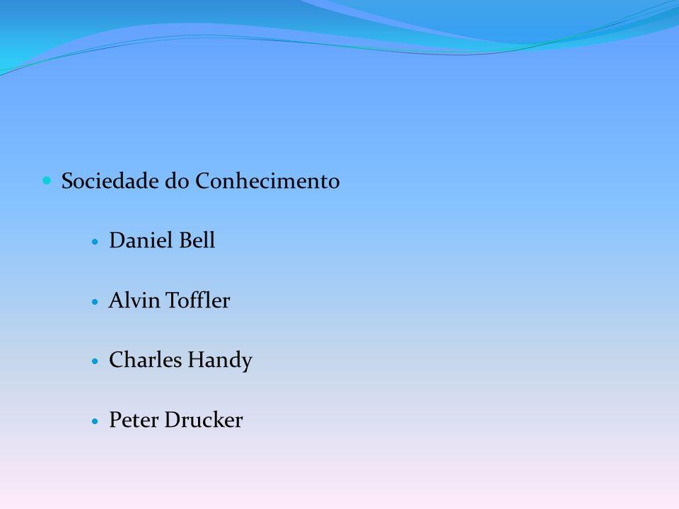 Sociedade do Conhecimento Daniel Bell Alvin Toffler Charles Handy Peter Drucker