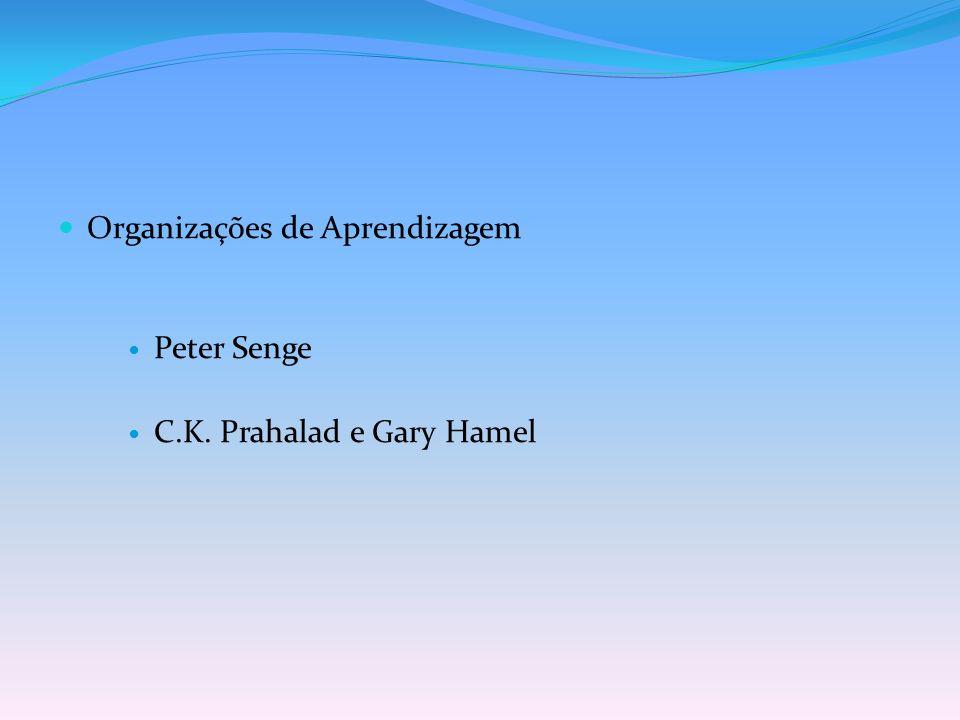 Organizações de Aprendizagem Peter Senge C.K. Prahalad e Gary Hamel