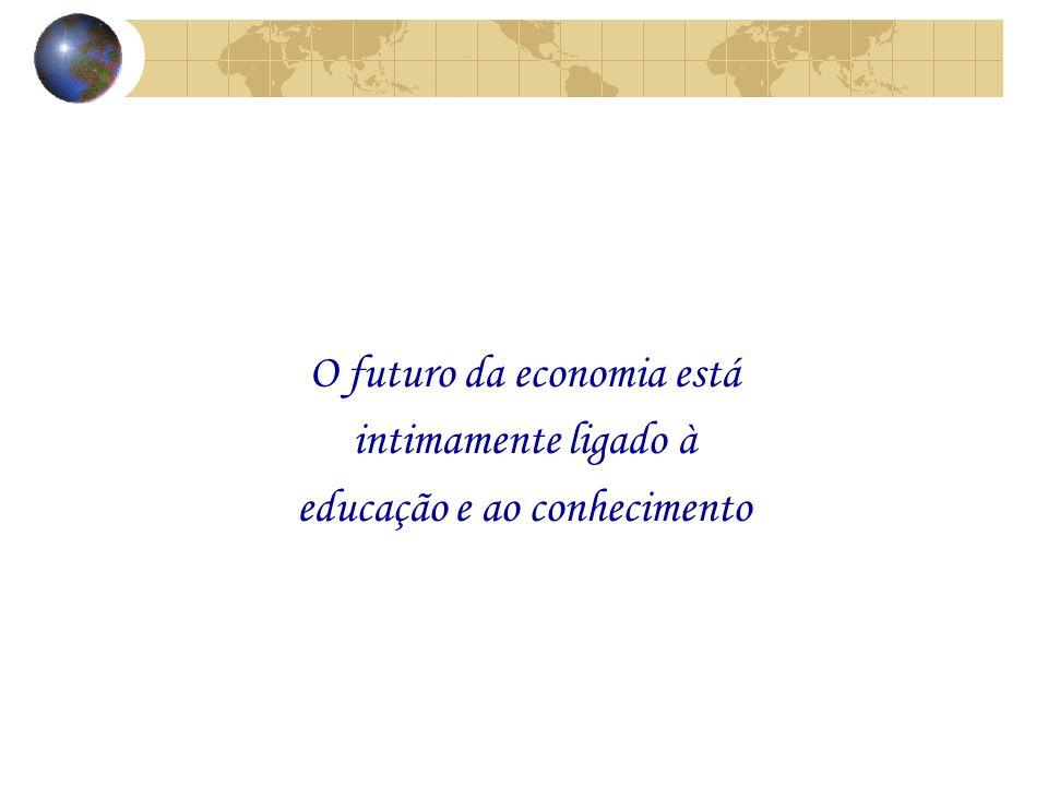 O futuro da economia está intimamente ligado à educação e ao conhecimento