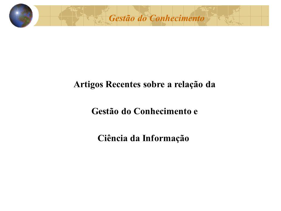 Artigos Recentes sobre a relação da Gestão do Conhecimento e Ciência da Informação