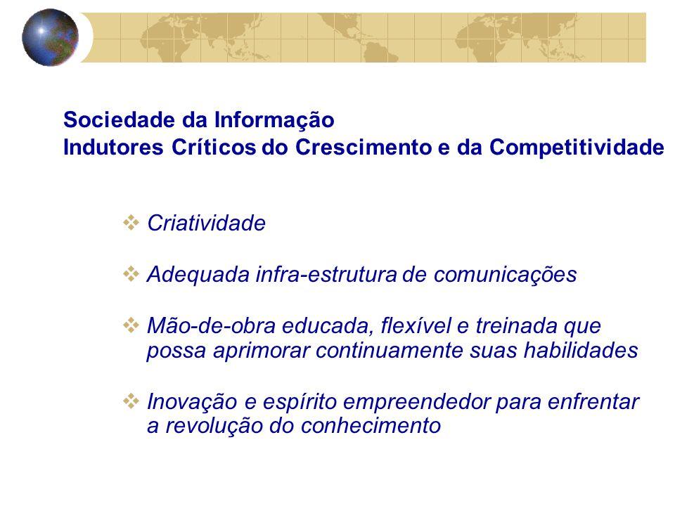 Acesso ao conhecimento global Criação e adaptação de conhecimento Disseminação do conhecimento Utilização do conhecimento Sociedade da Informação Aspectos Críticos