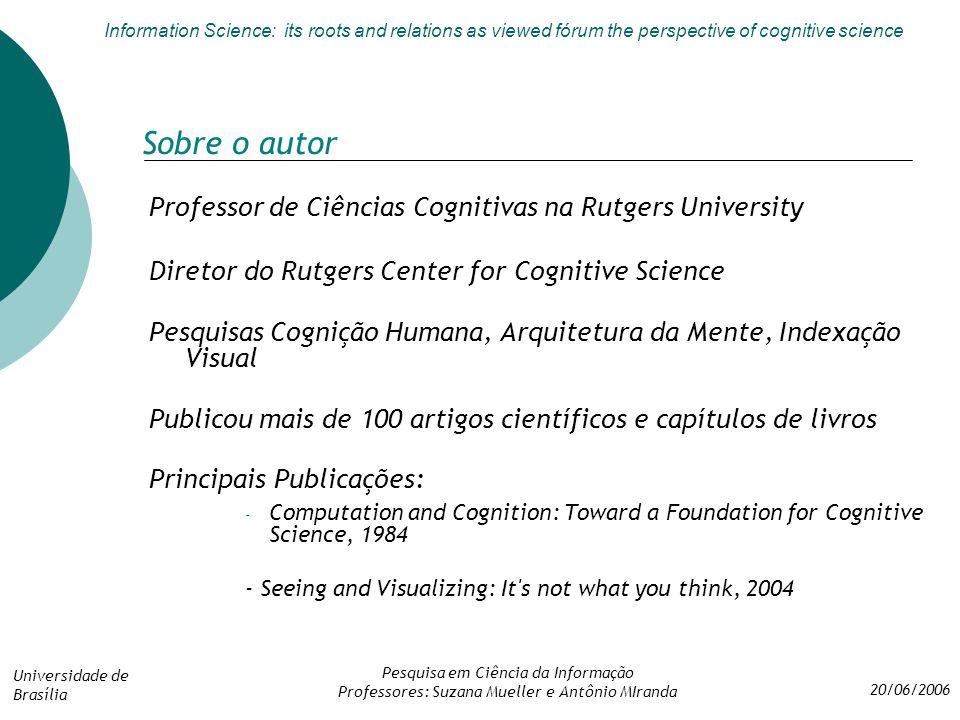 Autores que Estudam as Ciências Cognitivas e sua Intersecção com a Ciência da Informação, Segundo Nicholas Belkin