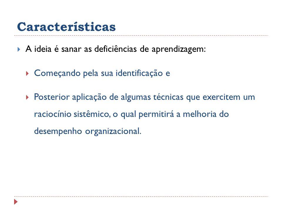 Características A ideia é sanar as deficiências de aprendizagem: Começando pela sua identificação e Posterior aplicação de algumas técnicas que exerci