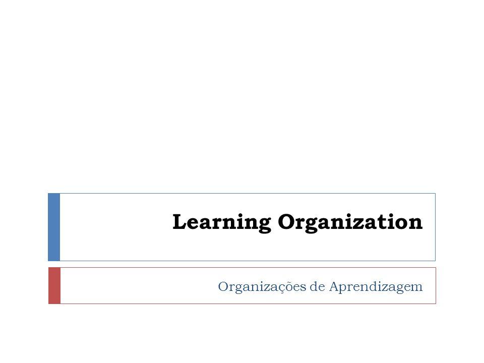 Conceitos Learning Organization são organizações que tem capacidade de: Aprender Renovar Inovar continuamente.