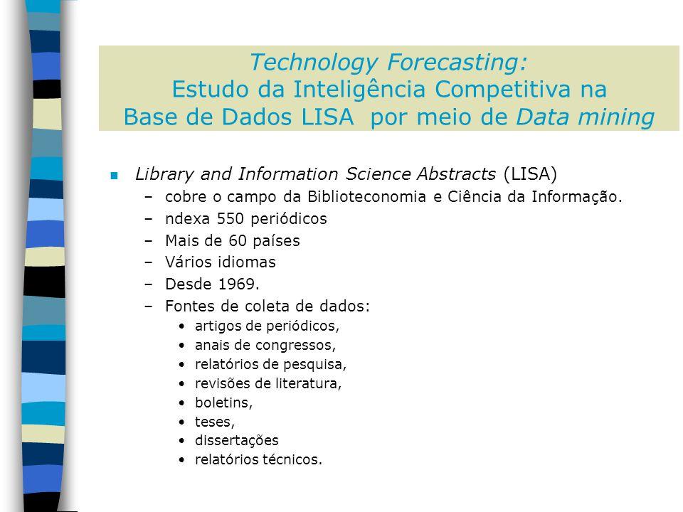 n Library and Information Science Abstracts (LISA) –cobre o campo da Biblioteconomia e Ciência da Informação.